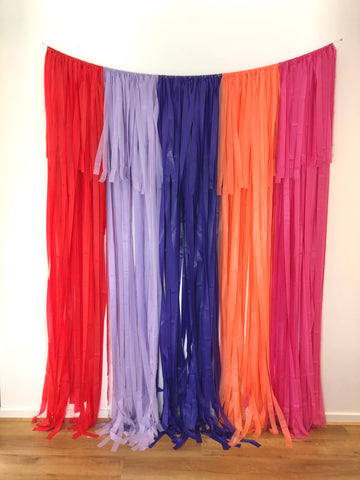 'Sunset Vibes' Fringe Garland/Backdrop