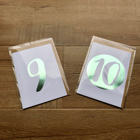 Children Birthday Cards - Mint Foil