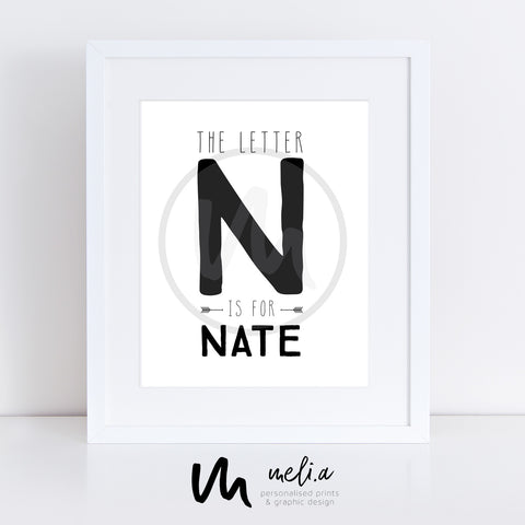 'Nate Design' Personalised Birth Print