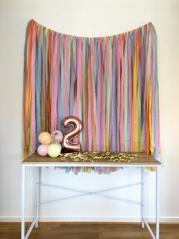 'Pastel' Fringe Garland/Backdrop