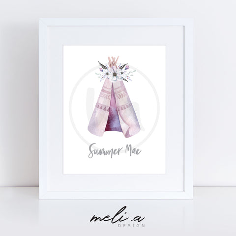 'Summer Design' Personalised Name Print