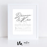 'Brianna' Personalised Wedding Print