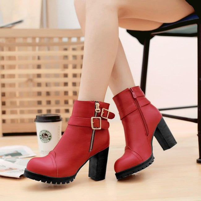 Women's Boots with thick heels