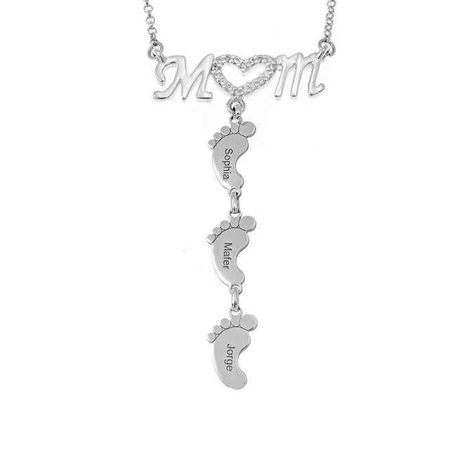 Maternal Love Heart Name Necklace