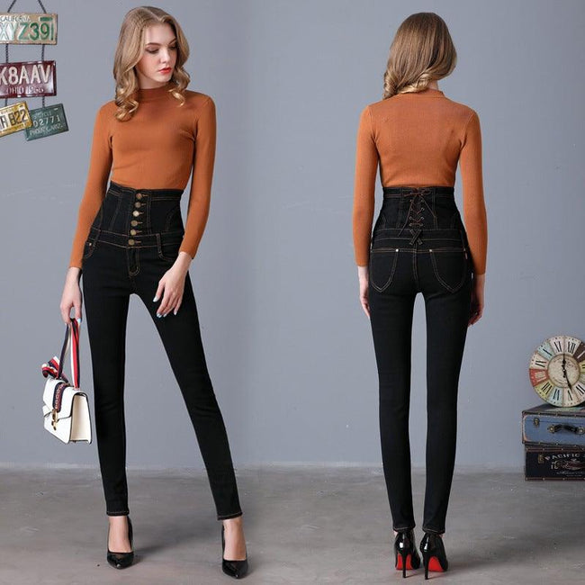 High waist large size pants