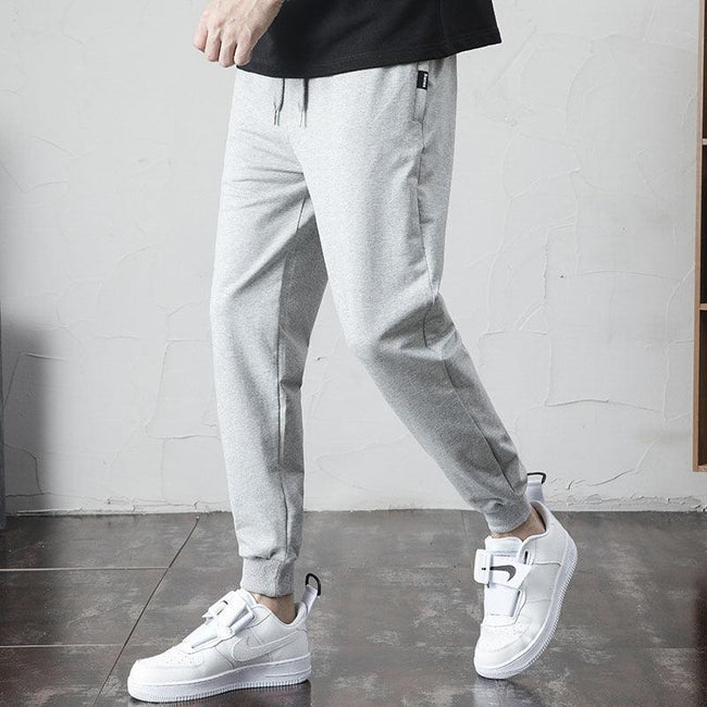 Men's Knitted Cropped Ieisure Track Pants