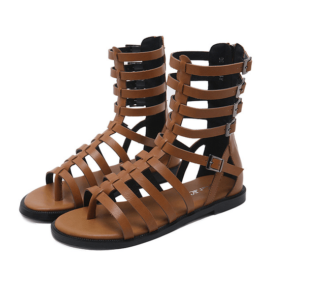 Flat bottom tube sandals