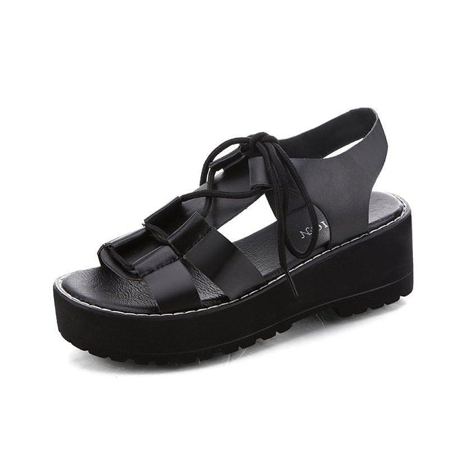 Casual fish mouth student sandals