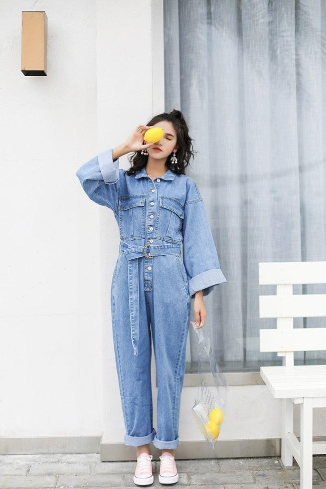 Loose waist top jumpsuit