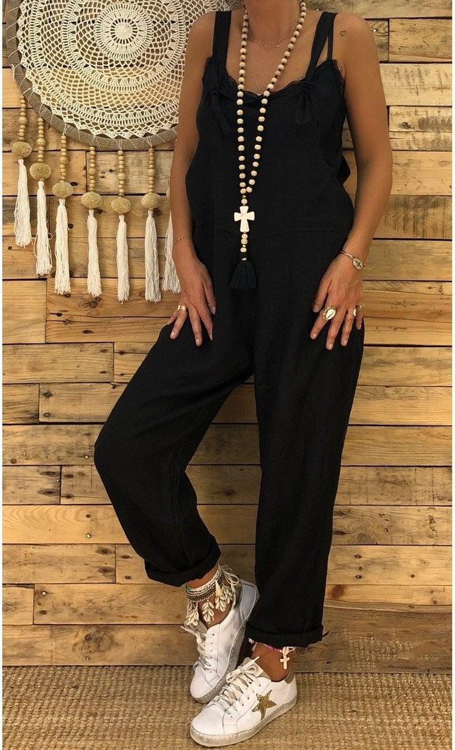 Loose casual plus size fall / winter jumpsuit