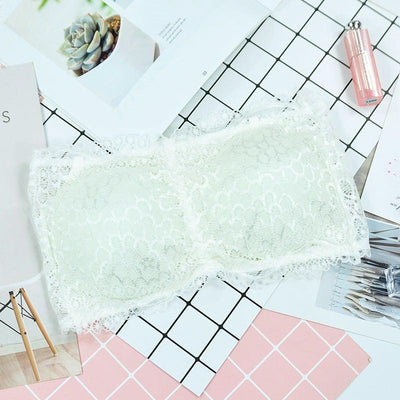 Lace girl tube top wrapped chest