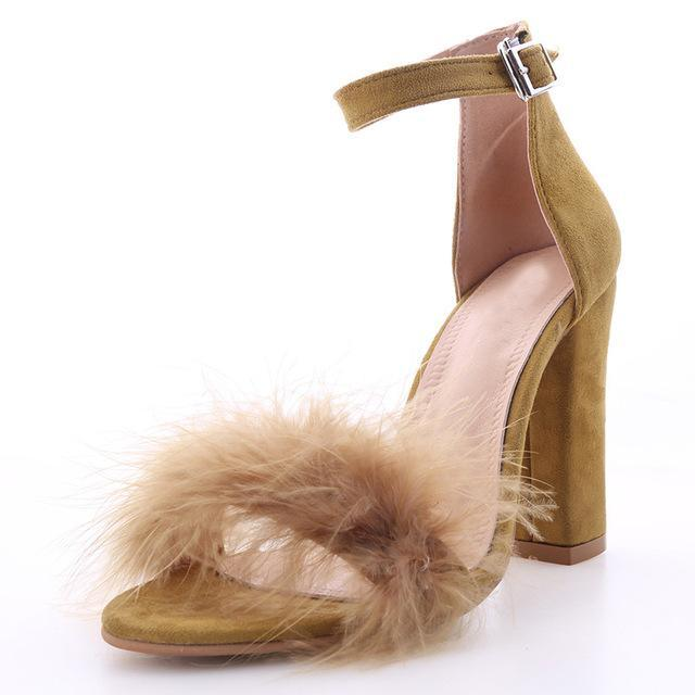 Fur SuedeToe Pumps