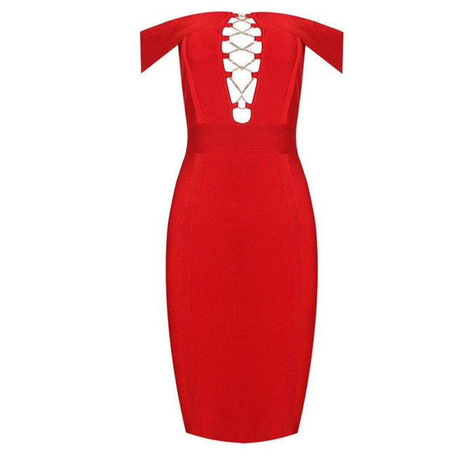 Bandage dress gown