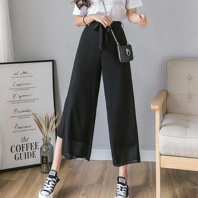Casual Loose Long Culottes