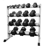 Hex Dumbbells 2 Layer Rack