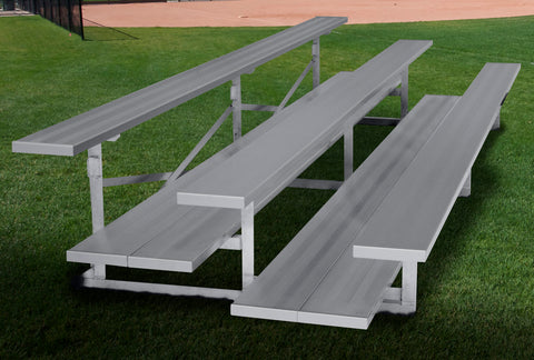 Fixed bleachers for outdoor grounds and stadiums