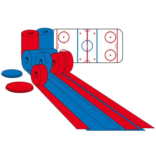 Red or blue roller for ice rink