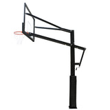 Deluxe height-adjustable basketball hoop
