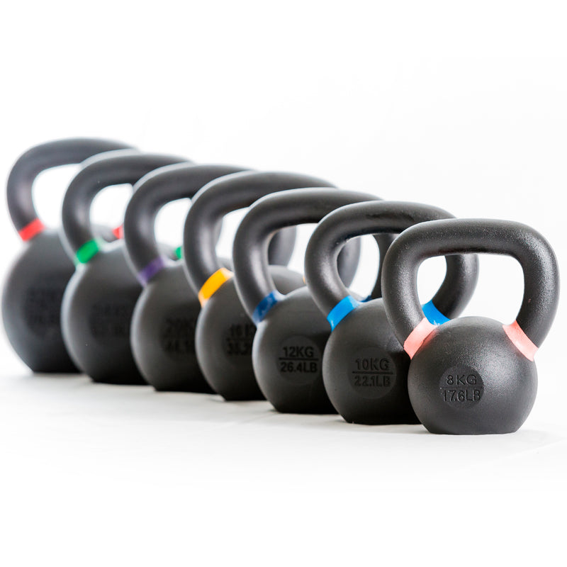 Kettlebells performance with colored rings