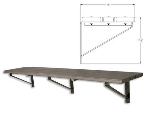 Wall plastic bench