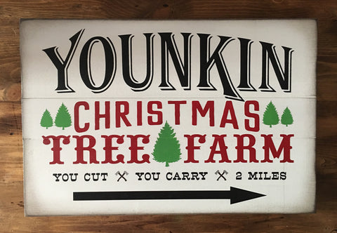 Customized Name Christmas Tree Farm Sign