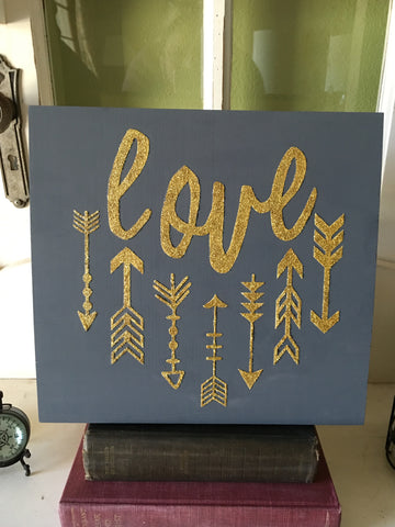 Love with Arrows Sign