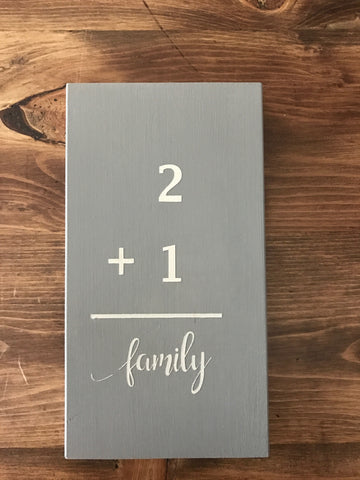 Family Flash Card Sign