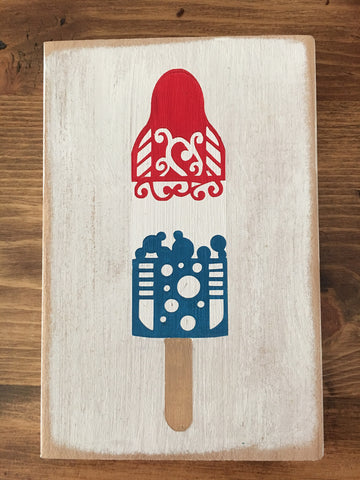 4th of July Popscicle Sign