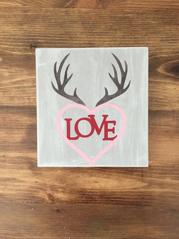 Love in Heart with Antlers Sign