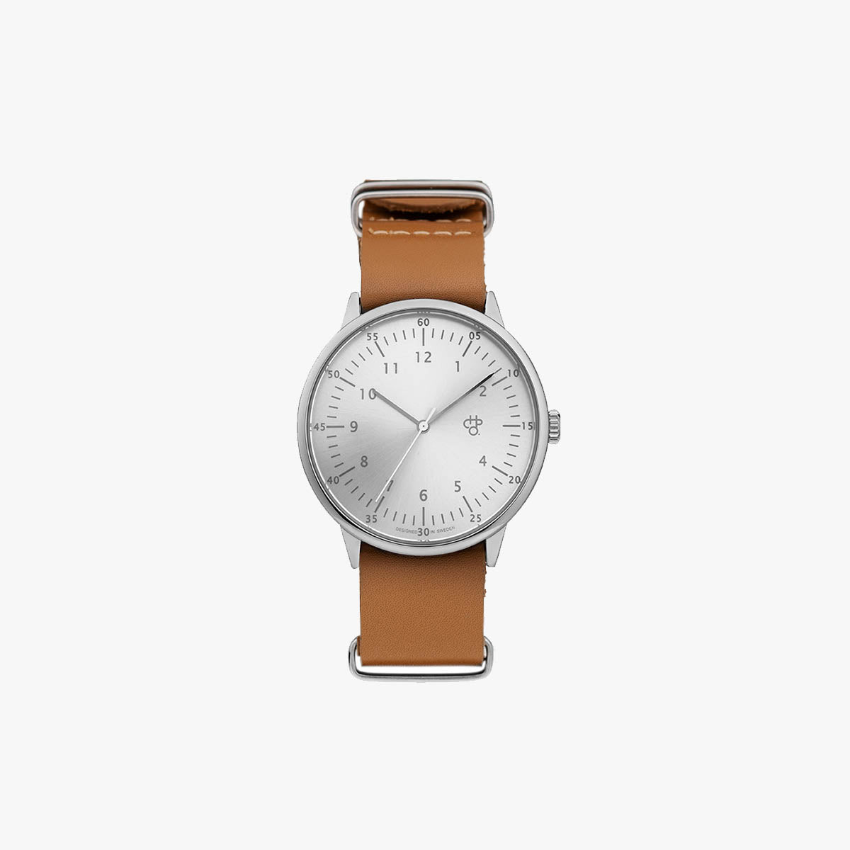 CHPO Watch Harold Silver Brown Leather Strap bali indonesia