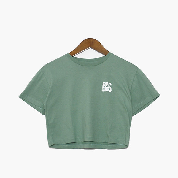 BGS Air Machine Crop Tee Green Leaf