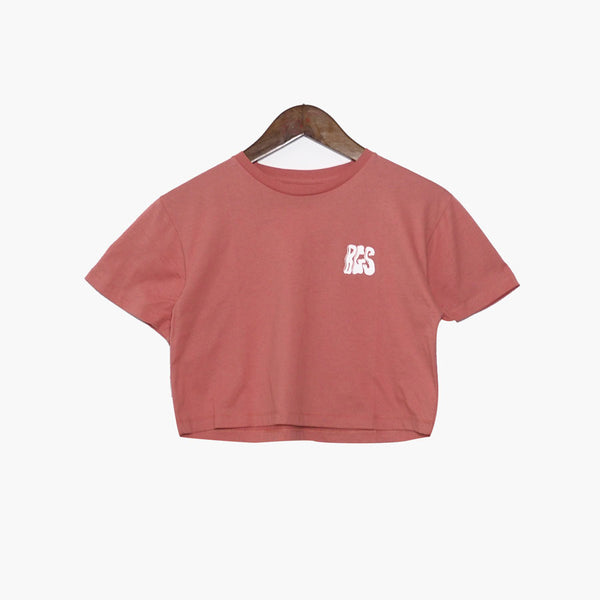 BGS Air Machine Crop Tee Peach