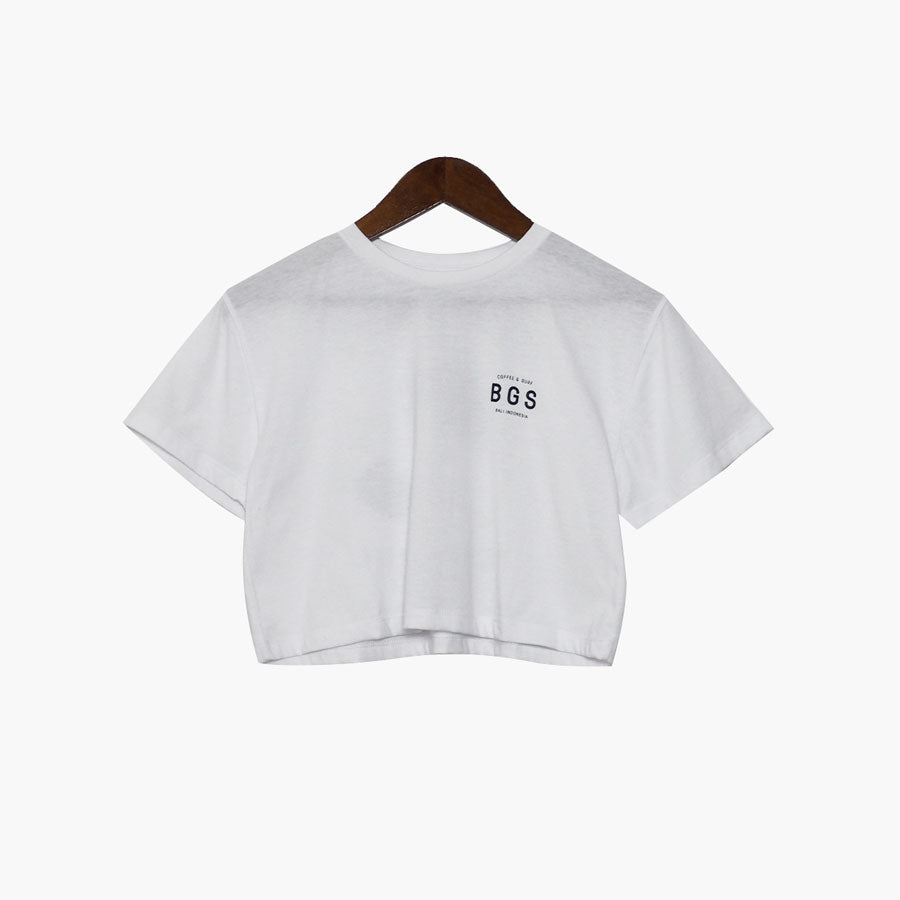 BGS Community Crop Tee White