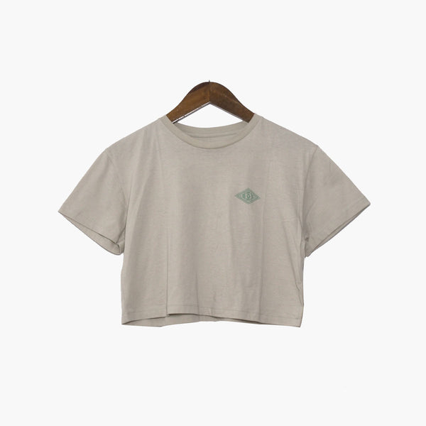 BGS Checkers Crop Tee Cream