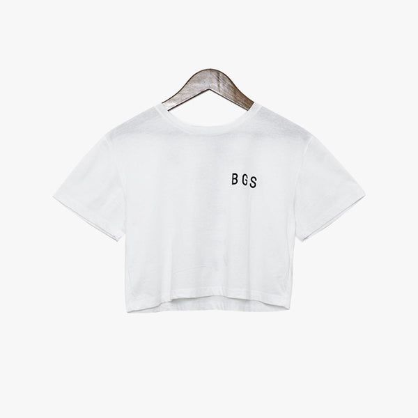 BGS Tiger++ Crop Tee White