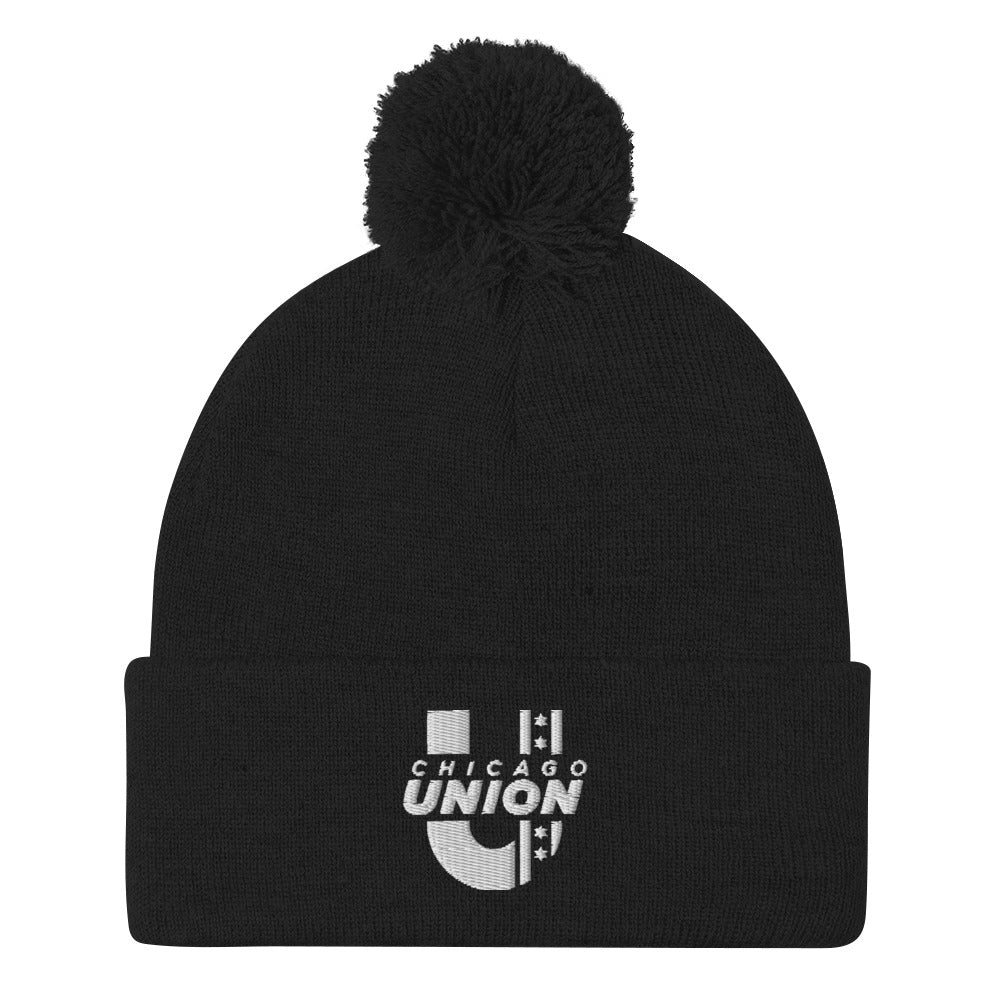 Chicago Union Pom Beanie - Black