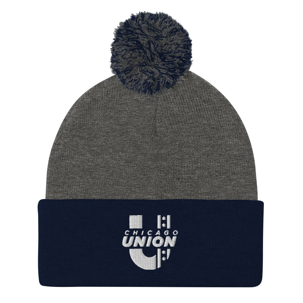 Chicago Union Pom Beanie - Gray/Navy