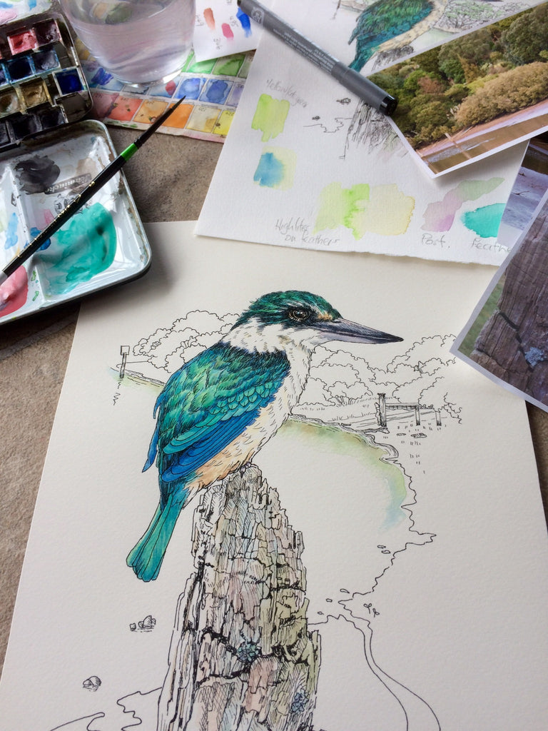 It's been awhile! I have a new bird 'The Kingfisher'