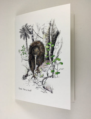 Card, NZ native Kiwi