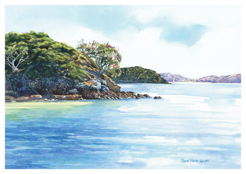 'Cruising the Bay' Painting, Bay of Islands Paihia, New Zealand