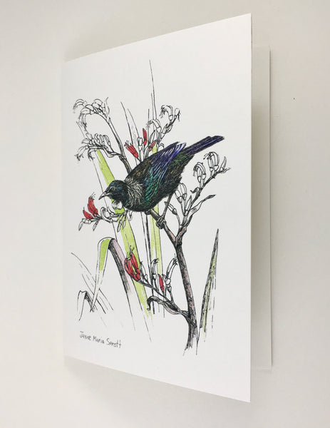Card, NZ native Tui