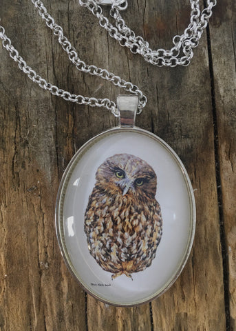 Jewellery - New Zealand Morepork (Ruru) Pendant