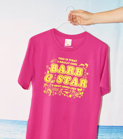 Barb and Star Tee - Pink