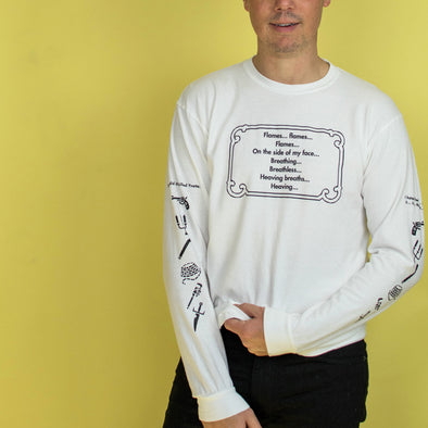 Clue Mrs. White Long Sleeve Tee - White