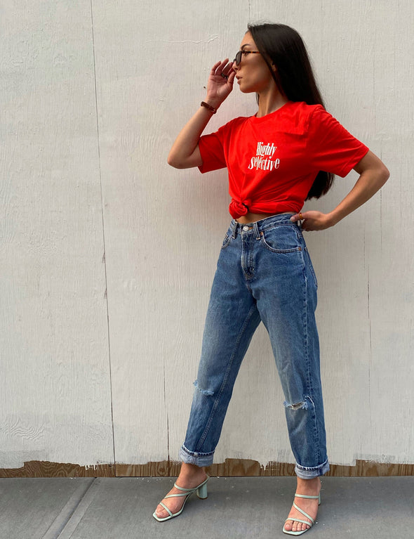 Clueless Highly Selective Tee - Red