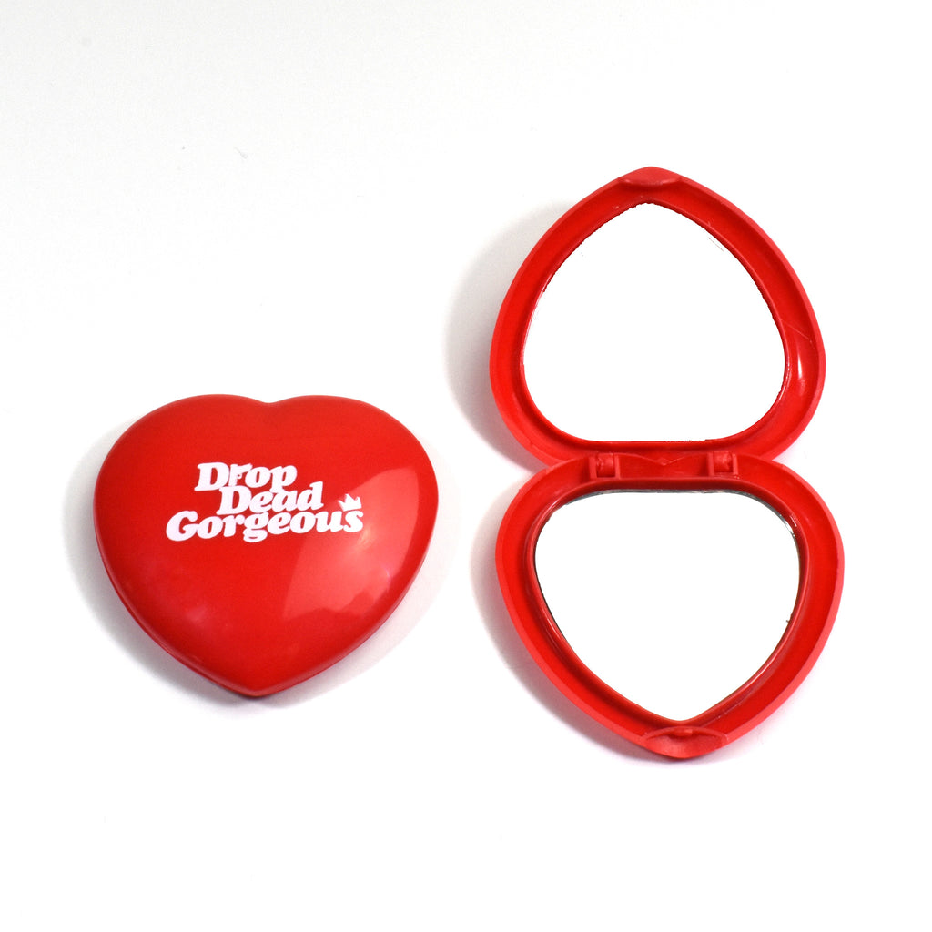 Drop Dead Gorgeous Heart Shaped Pocket Mirror - Totally Good Time