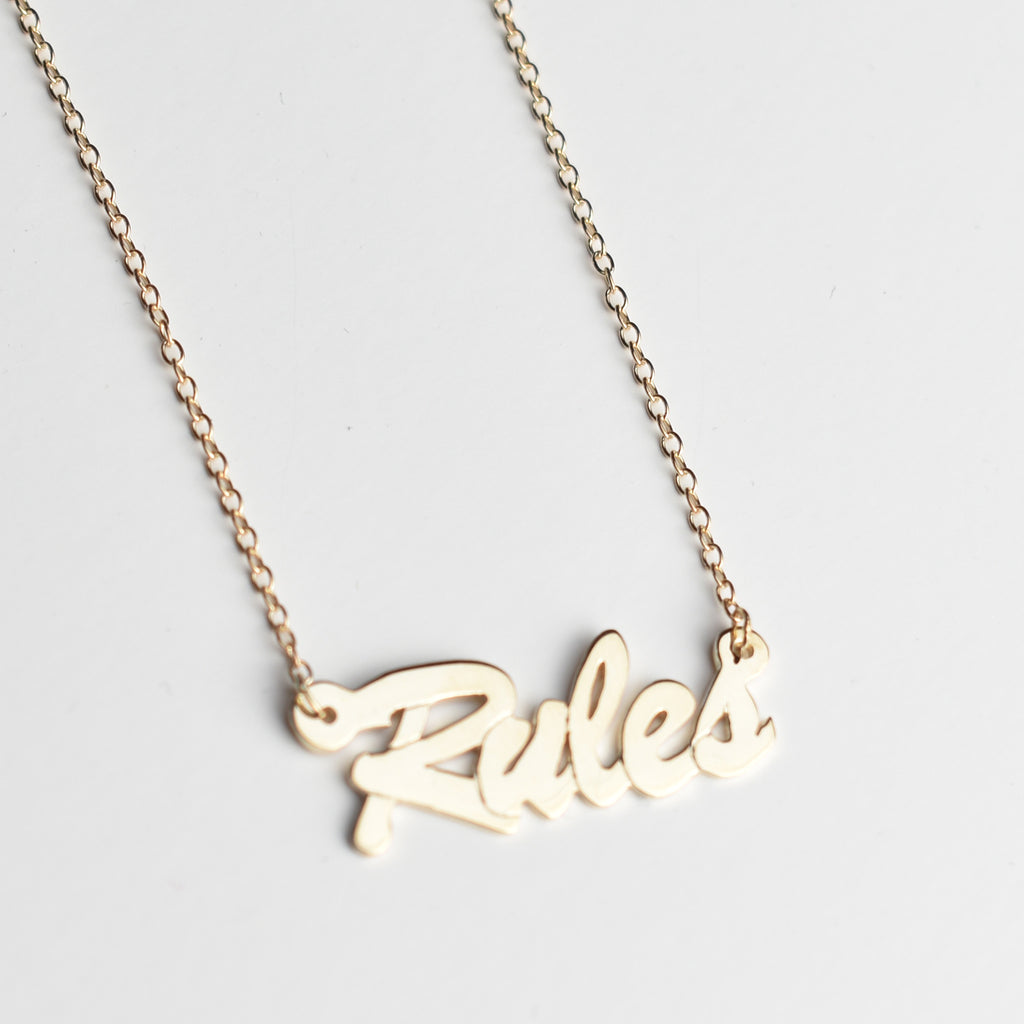 Euphoria Rules Name Necklace