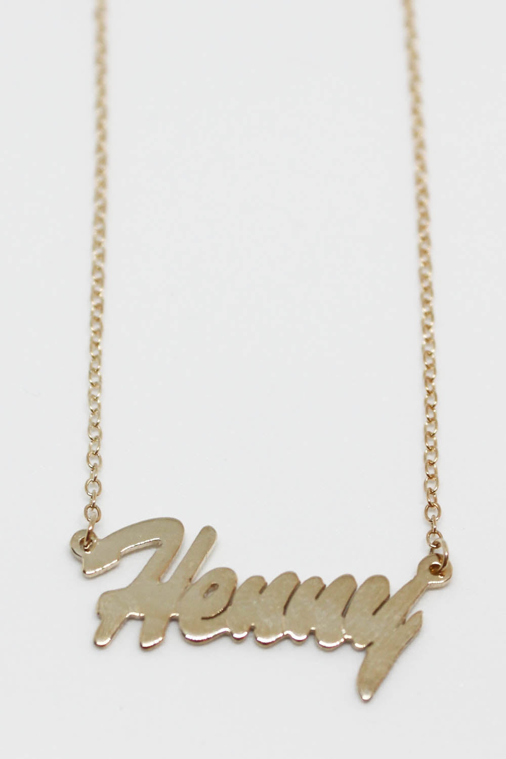Queer Eye Henny Name Plate Necklace - Totally Good Time