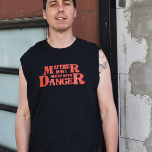 Mother May I Sleep With Danger Camp Tank - Black