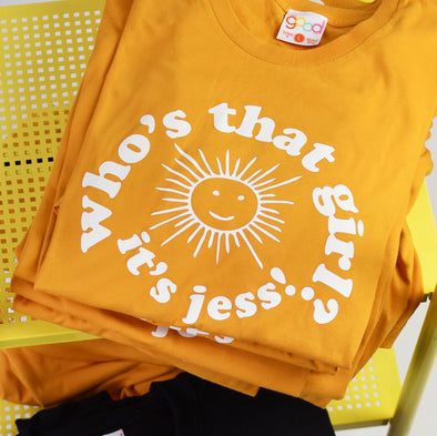 New Girl Who's That Girl It's Jess Tee - Gold